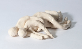 Ceramic Spooning Couple