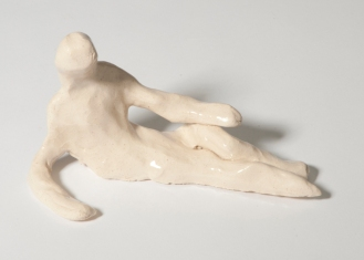Reclining Ceramic Figure