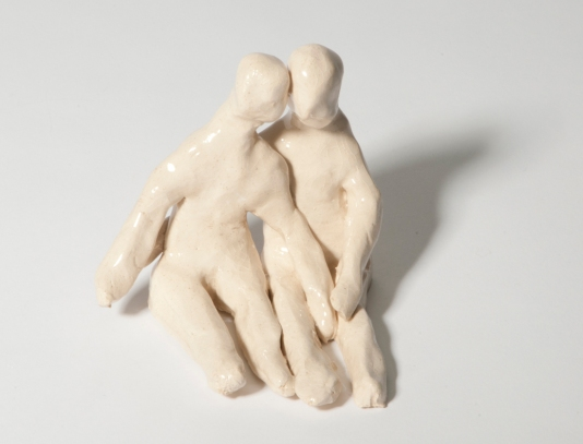 Seated Ceramic Couple